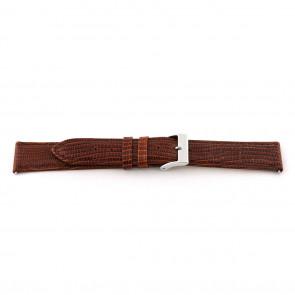 Bracelete em pele genuína castanho conhaque 14mm EX-G62