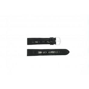 Lorus pulseira de relogio 19MM Couro Preto 19mm + costura preto
