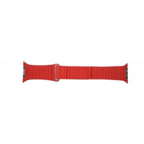 Apple (modelo de substituição) pulseira de relógio LS-AB-110 Couro Vermelho 42mm