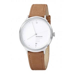 f45188c9a2edf Pulseira de relógio Mondaine MH1.L2210.LG BM20164 Couro Castanho claro 20mm