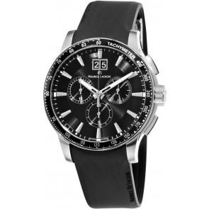 Pulseira de relógio Maurice Lacroix MI1098 / AQ60872 / ML640-000020 Silicone Preto 18mm