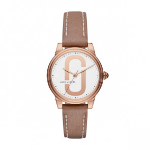 Pulseira de relógio Marc by Marc Jacobs MJ1579 Couro Bege 16mm