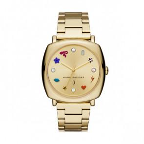 Pulseira de relógio Marc by Marc Jacobs MJ3549 Aço Banhado a ouro 18mm