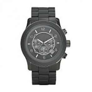 Pulseira de relógio Michael Kors MK8148 Aço Silicone Cinza antracite 24mm 350d68acf4