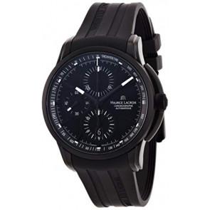 Pulseira de relógio Maurice Lacroix PT6188 / ML640-000027 Borracha Preto
