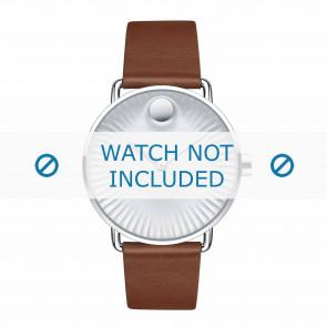 Movado pulseira de relogio 3680038 Couro Conhaque 20mm