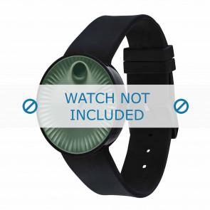 Movado pulseira de relogio 3680041 Silicone Preto 22mm