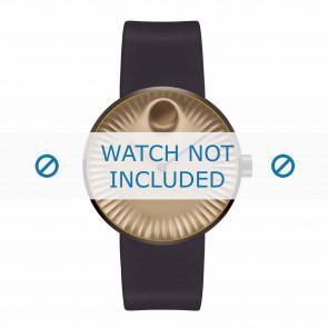 Movado pulseira de relogio 3680043 Silicone Castanho escuro 22mm