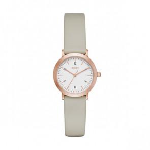 Pulseira de relógio DKNY NY2514 Couro Taupe 14mm