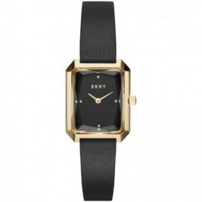 Pulseira de relógio DKNY NY2644 Couro Preto 12mm