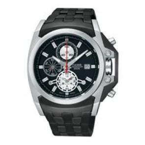 Pulseira de relógio Pulsar YM62-X204-PF3843X1 Aço Preto