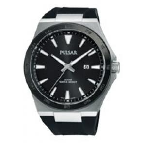 Pulseira de relógio Pulsar PH9081X1 / PC32 X087 / PHG048X Borracha Preto