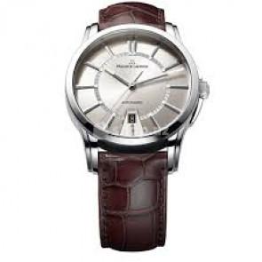 Pulseira de relógio Maurice Lacroix PT6148-SS001-130 / ML550-005 Pele de crocodilo Marrom 20mm