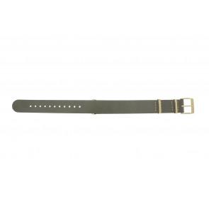 Timex pulseira de relogio PW2P98500 Couro Taupe 18mm + costura bege