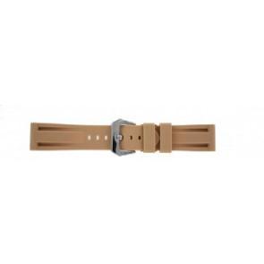 Panerai style pulseira de relogio Silicone bege 24mm