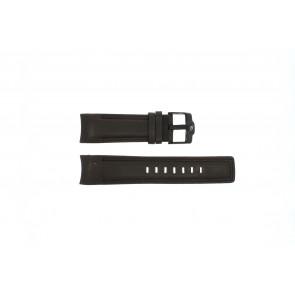 Rip Curl pulseira de relogio DBR24DBR Couro Castanho escuro 24mm + costura marrom