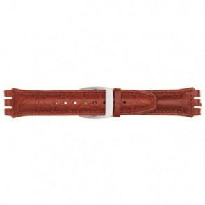 Bracelete de relógio para Swatch vermelho 19mm 07M