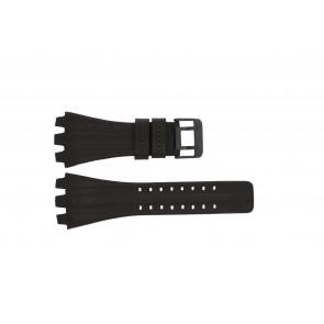 Police pulseira de relogio 12079BR / 12079JSB/05A / 12079JS-02  Couro Castanho escuro 36mm