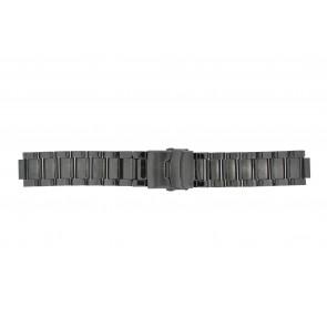 Q&Q pulseira de relogio QQ13ST-AC-ST Metal Cinza antracite 13mm