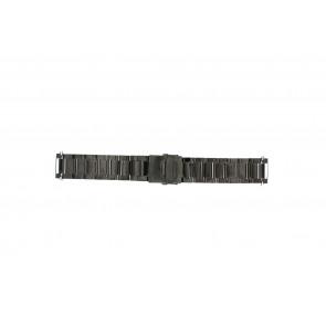 Pulseira de relogio QQ22ZWR Metal Preto 22mm