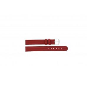 Q&Q pulseira de relogio QQ12LDRGS Couro Vermelho 12mm + costura vermelha