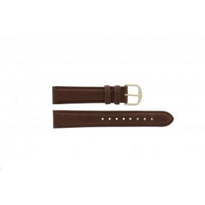 Q&Q pulseira de relogio QQ18LDBG-GD Couro Marrom 18mm + costura marrom