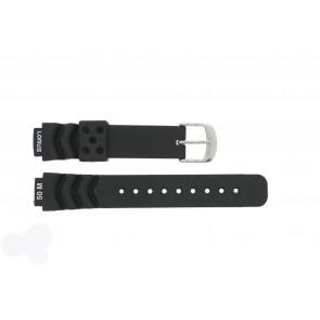 Lorus pulseira de relogio R2365AX-9 Borracha Preto 14mm