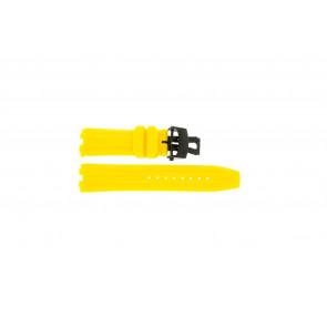 Pulseira de relógio Roamer 750837493507 Silicone Amarelo 24mm