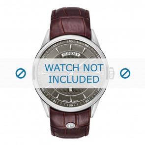 Roamer pulseira de relogio 508293-41-05-05 Couro Marrom 22mm + costura padrão