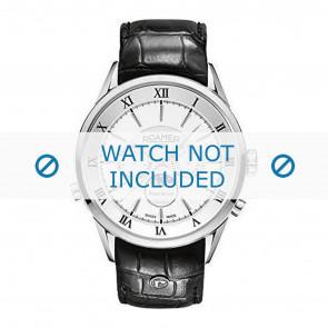 Pulseira de relógio Roamer 508821-41-13-05 Couro Preto 22mm
