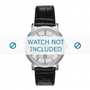 Roamer pulseira de relogio 709856-41-12-07 Couro Preto 20mm + costura padrão