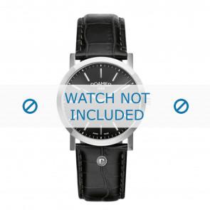 Roamer pulseira de relogio 937830-41-50-09 Couro Preto 22mm + costura padrão
