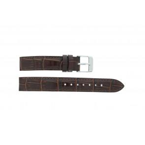 Lorus pulseira de relogio V501 X292 / RRS73UX-9 / V501- X29201A Couro Marrom 14mm + costura padrão