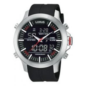 Pulseira de relógio Lorus Z021-X002-RW607AX9 Borracha Preto 21mm