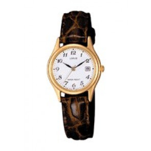 Pulseira de relógio Lorus VX82 X285 / RXT94AX9 Couro croco Marrom
