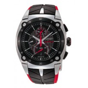 Pulseira de relógio Seiko 7T82-0AF0 / SPC009P1 Borracha Preto