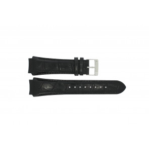 Prisma pulseira de relogio SPECZW21 Couro Preto 21mm + costura preto