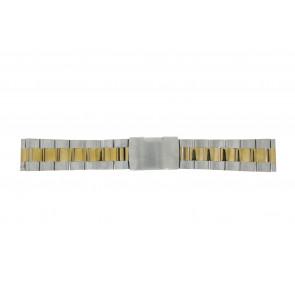 Pulseira de relógio WoW 1014-18-BI Aço Bicolor 18mm