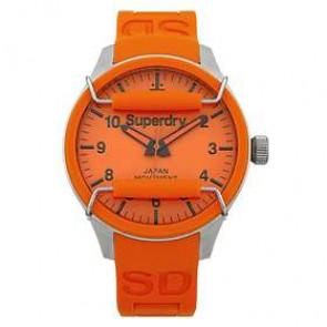 Pulseira de relógio Superdry SYG109OG Silicone Laranja