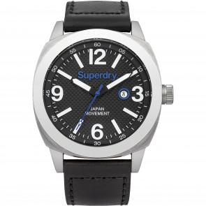 Pulseira de relógio Superdry SYG144BB Couro Preto 24mm