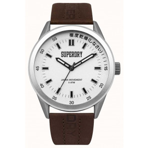 Pulseira de relógio Superdry SYG207TS / 222793 Couro Marrom
