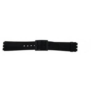 Pulseira de relógio Swatch (alt.) SC15.01 Couro Preto 16mm