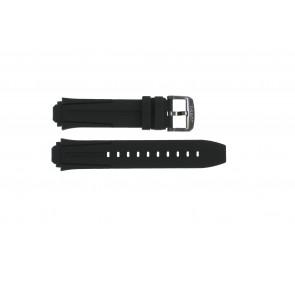 Pulseira de relógio Tissot T1114173744103A / T1114173744107A / T603042129 Silicone Preto 18mm