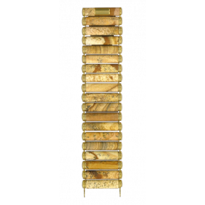 Pulseira de relógio Tissot T608014383 / T608.R151917 Cerâmica Marrom
