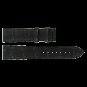 Pulseira de relógio Tissot T0636101605800 / T610031945 Couro Preto 20mm