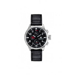 2e406033235 Pulseira de relógio Tommy Hilfiger TH-102-1-14-0878   TH1790683 Couro Preto  20mm