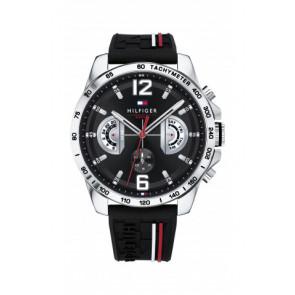 Pulseira de relógio Tommy Hilfiger TH-320-1-14-2380 / TH1791473 / TH679302202 Borracha Preto 22mm