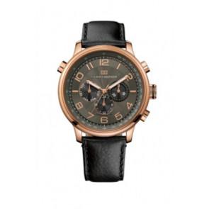 Pulseira de relógio Tommy Hilfiger TH.145.1.34.1051 Couro Preto