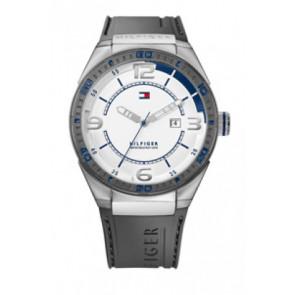 Pulseira de relógio Tommy Hilfiger TH12512909 / TH675010692 Borracha Cinza 21mm