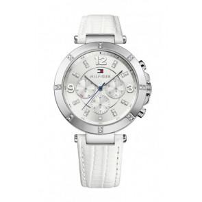 Pulseira de relógio Tommy Hilfiger TH-246-3-14-1852S Couro Branco
